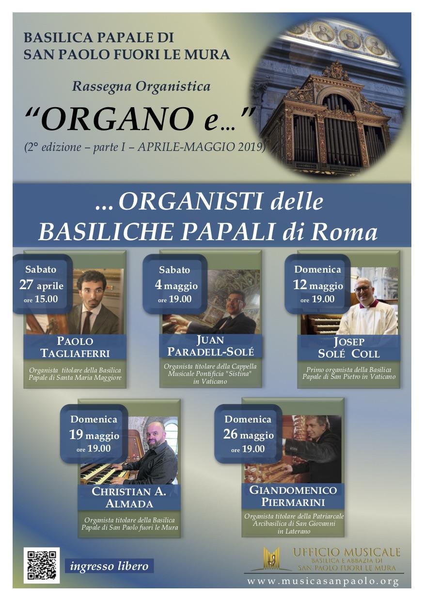 """Rassegna Organistica """"Organo e…"""" (2° edizione-2019)"""